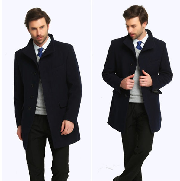 Men Wool Coat Cashmere 2 colors