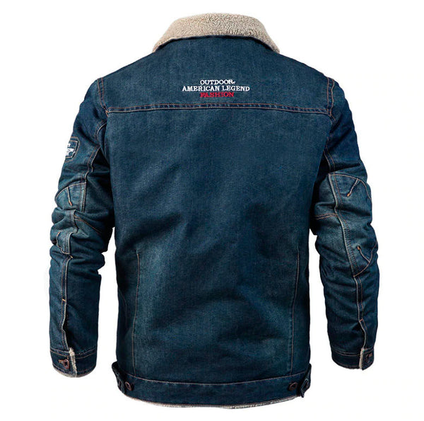 Denim Mens Jacket Winter Military Thick Warm (2 colors)