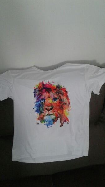 Colourful lion T-Shirt Mens