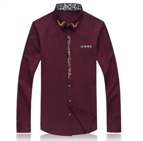Mens Shirts Long Sleeve 4 colors