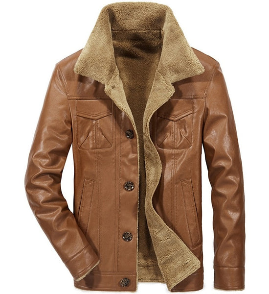 Men's leather jacket men 3 colors