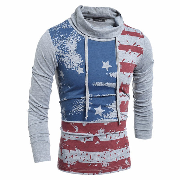 Men's Turtleneck T-Shirts American Flag 3 colors