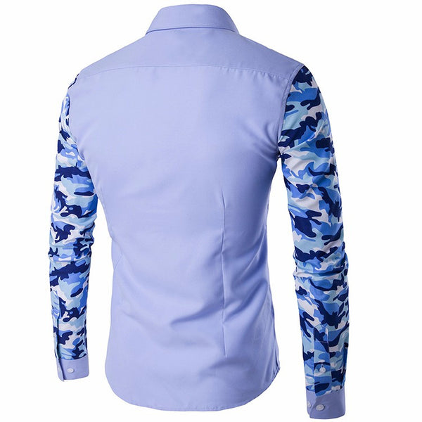 Mens Shirts  2 colors Camouflage