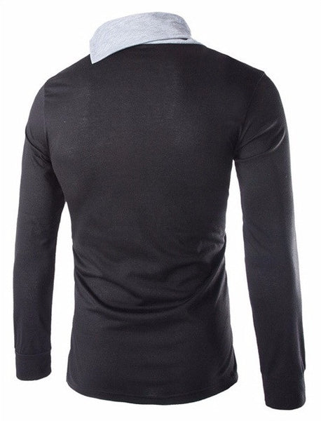 Casual Men's Long Sleeve T-shirt 4 colors