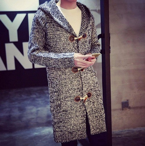 Mens Cardigans Hooded Autumn / Winter 3 colors