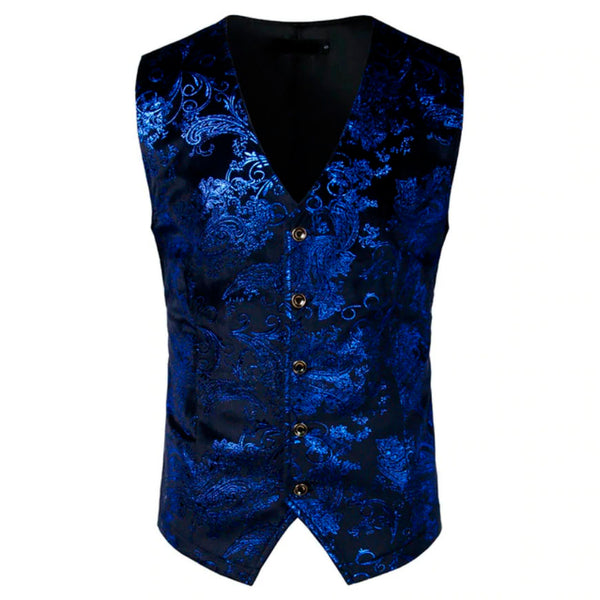 Aristocrat Vest Paisley Printed Steampunk 5 colors