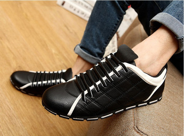 Mens Casual Shoes Black White Blue