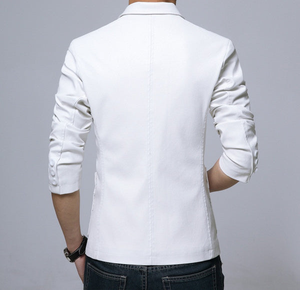 Men's Leather Jacket - blazer 5 colors
