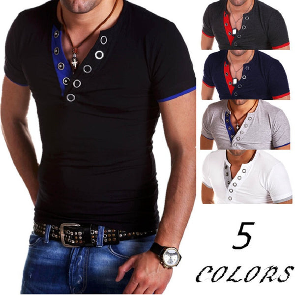 T-Shirt Mens Short Sleeve 5 colors