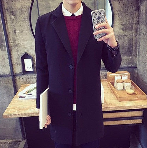 Mens  Wool Coat 5 colors
