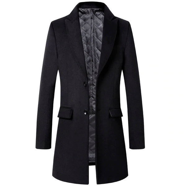 Wool Men Thick Superior Quality Classic Slim Fit Male Coats Wool Blends 3 - colors