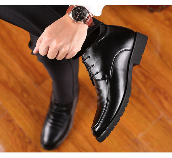 Winter Shoes Black Warm Plush Casual