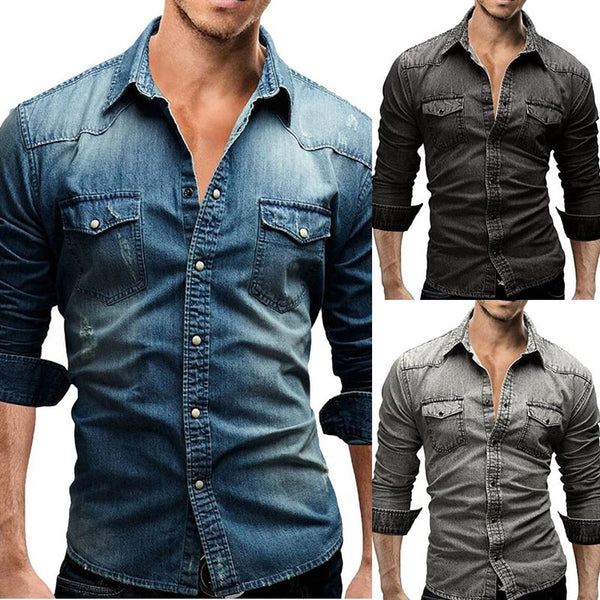Denim Stylish Shirt (3 colors)