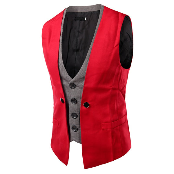 Men's double-breasted vest 6 colors