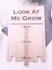LET'S ETCH WALL GROWTH CHART RULER LOOK AT ME GROW PERSONALISED ENGRAVED