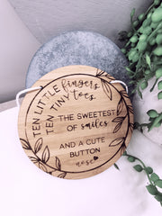 Ten Little Fingers, Ten Little Toes Plaque