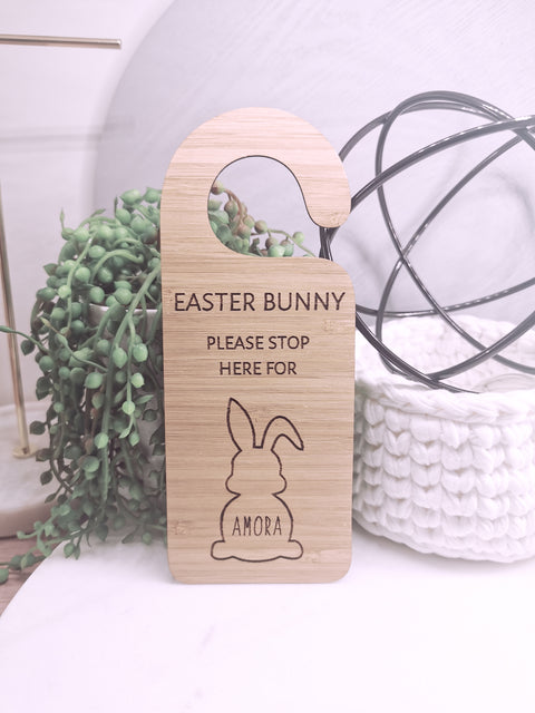 EASTER BUNNY DOOR HANGING DECORATION - PERSONALISED