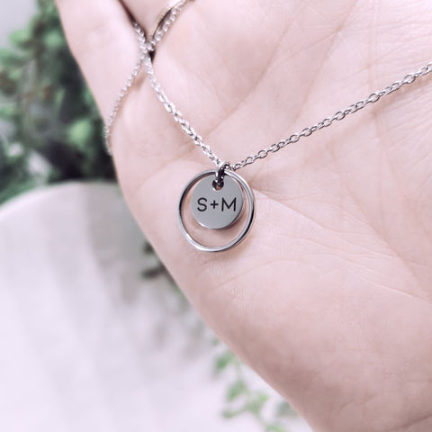 JULIET - Eternity & Small Pendant Necklace