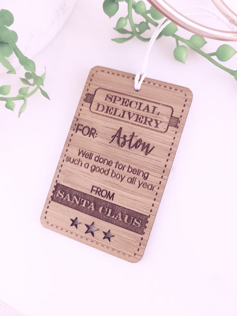 Santa's Special Delivery Gift Labels - Personalised