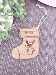 Stocking Decorations - Personalised