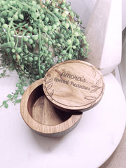 LET'S ETCH SPECIAL WOODEN TRINKET BOX PERSONALISED ENGRAVED