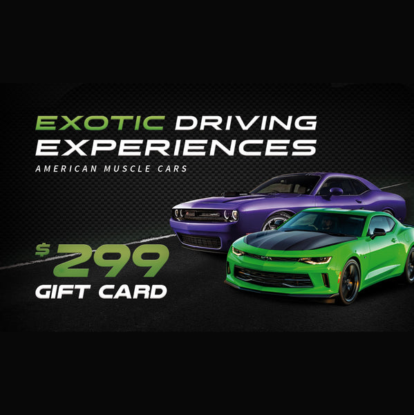 $299 Muscle Car Tour Gift Card