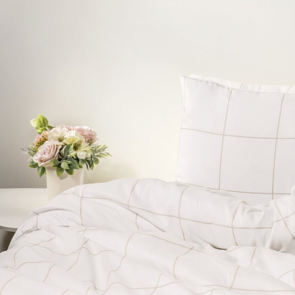 1800 Thread Count Egyptian Comfort Duvet Cover - Grid Pattern