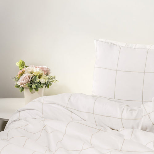 1800 Thread Count Ultra Comfort Duvet Cover - Grid Pattern