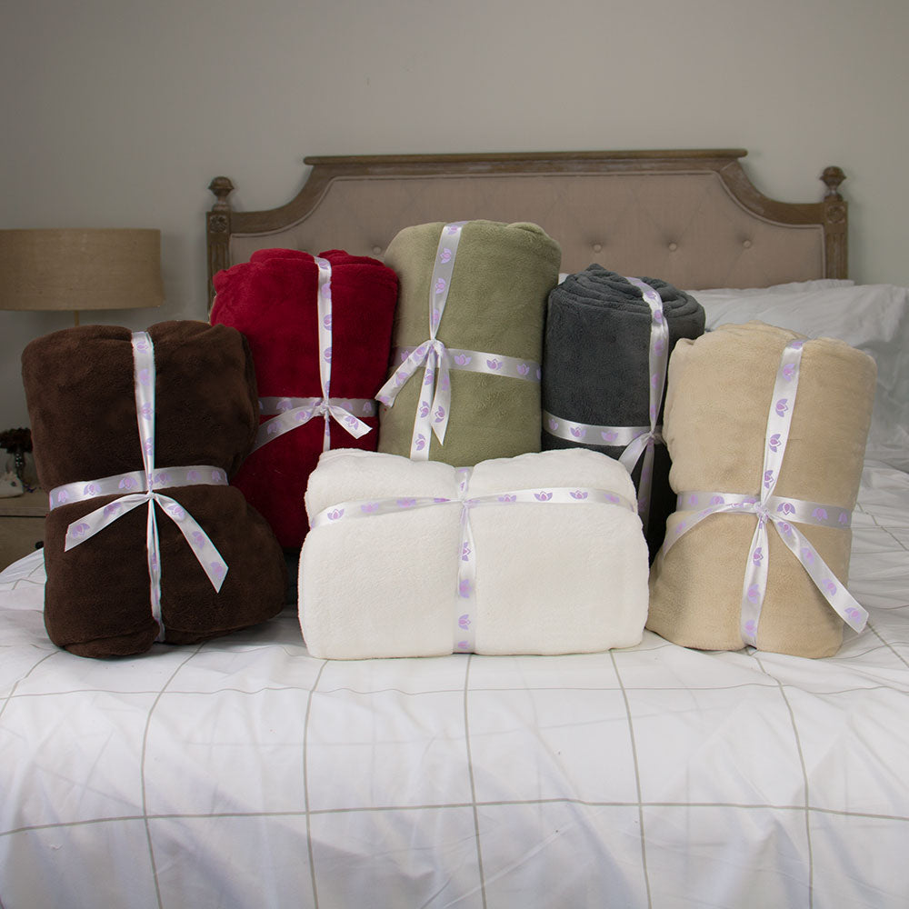Queen Super Soft Luxury Plush Blanket - 6 colors