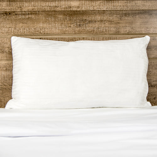 Luxury Hotel Quality Goose Down Alternative Pillows - Low Medium Fill