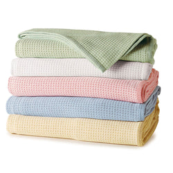 Real 100% Egyptian Cotton Blanket - Softly Woven Egyptian Yarns