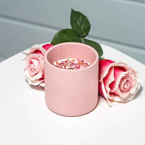 Handmade Rose Petal Soy Candle (10oz)