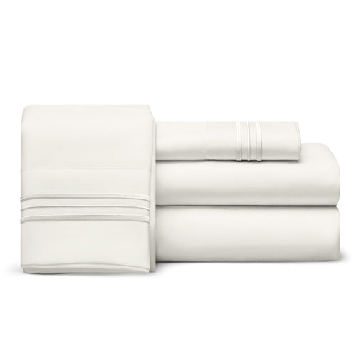 Split Top Queen Sheet Set (Flex), 1800 Thread Count Ultra Comfort, Deep Pocket