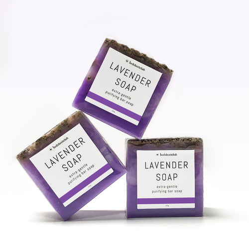lavender hand soap bar extra gentle 3x 100grams
