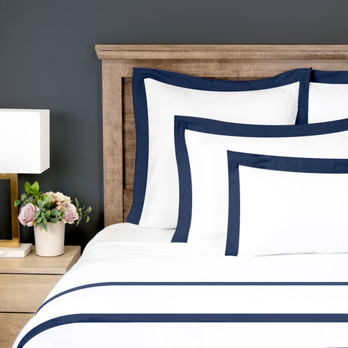 Solid Border Duvet Cover - 1800 Thread Count Ultra Comfort