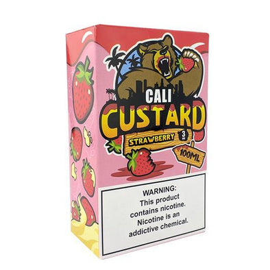 Strawberry - Cali Custard 100ml - Luxor Distro