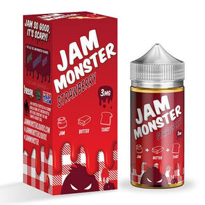 Strawberry - Jam Monster 100ml - Luxor Distro