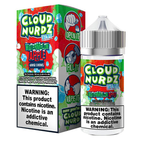 Watermelon Apple Iced - Cloud Nurdz 100ml - Luxor Distro