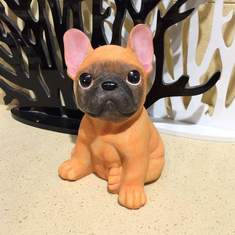 Image of Adorable Bouledogue Français en résine -  - Lovely bouledogue