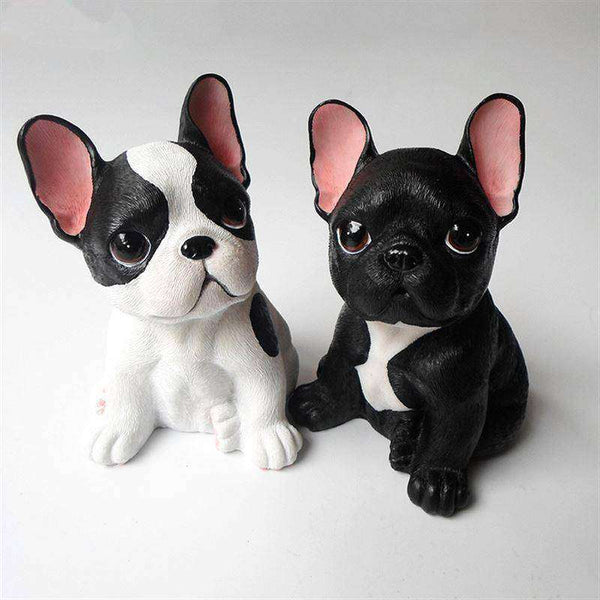 Adorable Bouledogue Français en résine -  - Lovely bouledogue