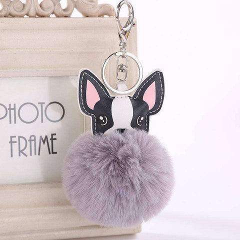 Pompon Porte-clés -  - Lovely bouledogue