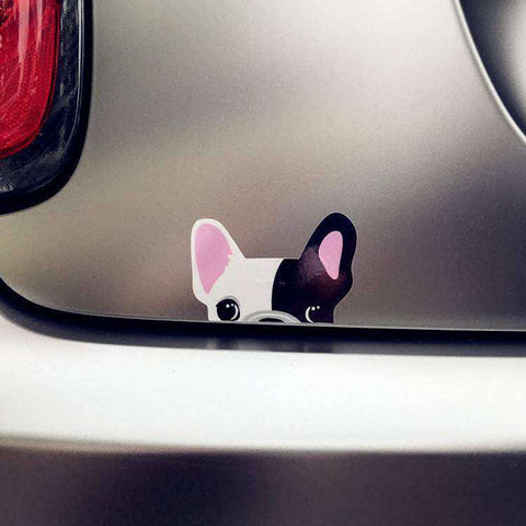Image of Stickers Bouledogue Français (Voiture, mur, etc...) - Rose - Lovely bouledogue