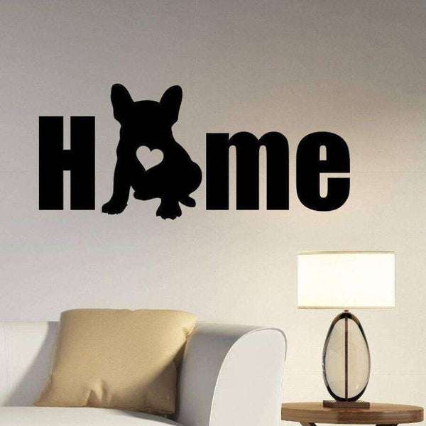 Stickers Home bouledogue - Noir / 57x25cm - Lovely bouledogue