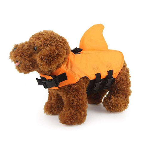 Gilet de natation Requin (Orange ou bleu) -  - Lovely bouledogue