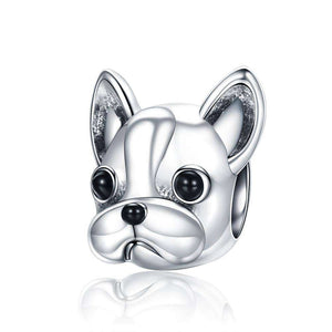 Charme en argent -  - Lovely bouledogue