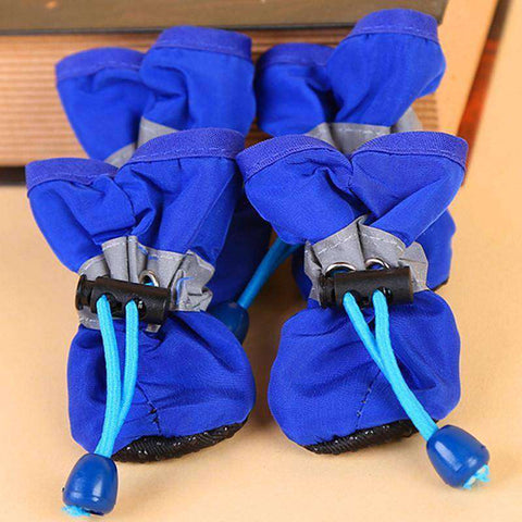 Image of Chaussons antidérapant pour chien - Bleu / 1 - Lovely bouledogue