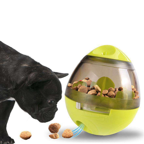 Image of Oeuf distributeur de friandises - Vert - Lovely bouledogue