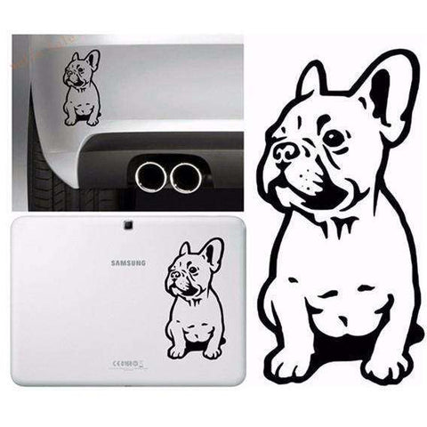 Image of Stickers Bouledogue Français (Voiture, mur, etc...) -  - Lovely bouledogue