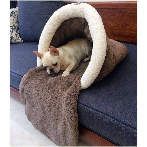 Coussin tunnel - Marron / S - Lovely bouledogue