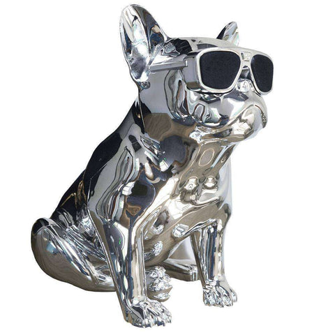Image of Enceinte Bluetooth Bouledogue Français - Argent - Lovely bouledogue
